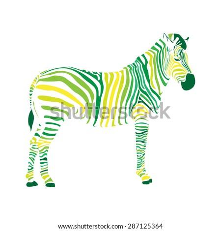 Zebra Icon Animal Symbol Green Zebra Stock Vector 287125364 ...