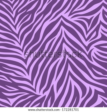 Zebra print. Chic vector seamless patterns (tiling). Violet color. Vector illustration. Endless texture can be used for printing onto fabric and paper, scrap booking or web sites backdrop. - stock vector