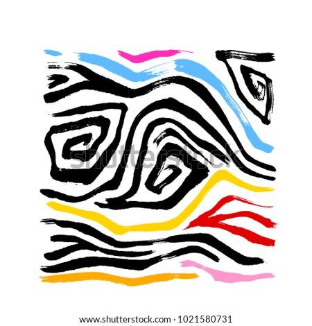 zebra print hand drawn pattern illustrations stock vector 1021580731 rh shutterstock com Zebra Print Border zebra print vector pattern
