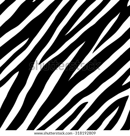 Zebra skin seamless vector background  - stock vector