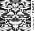 Zebra skin texture seamless pattern, vector - stock photo