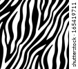 Zebra Stripes Seamless Pattern - stock vector