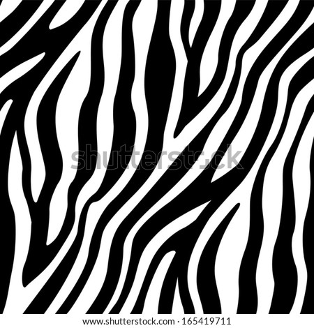 Zebra Stripes Seamless Pattern - stock vector