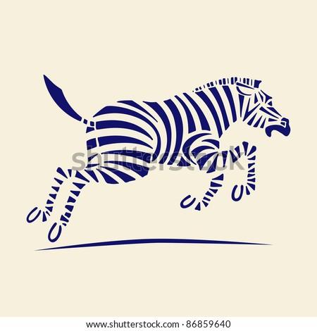 zebra vector illustration - stock vector