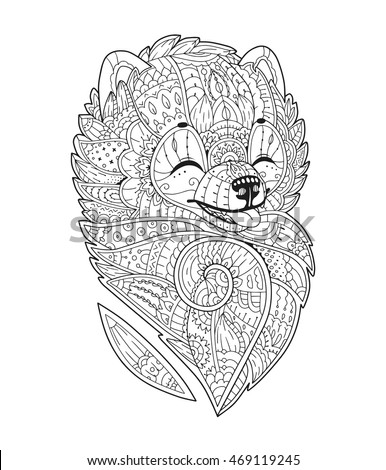 Cute Vector Stock S Quot Zentangle Style Coloring Pages With