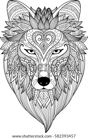 Zendoodle Stylize Dire Wolf Design