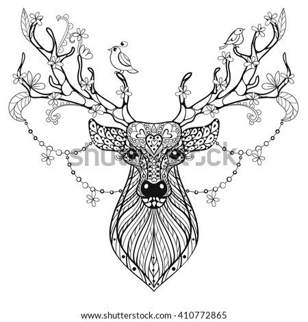 Clipart 26544 in addition Adult reindeer moreover Antler Set furthermore Hand Drawn Reindeer Antlers Roses Hipster 483631885 together with Antler. on flowers clip art deer with antler