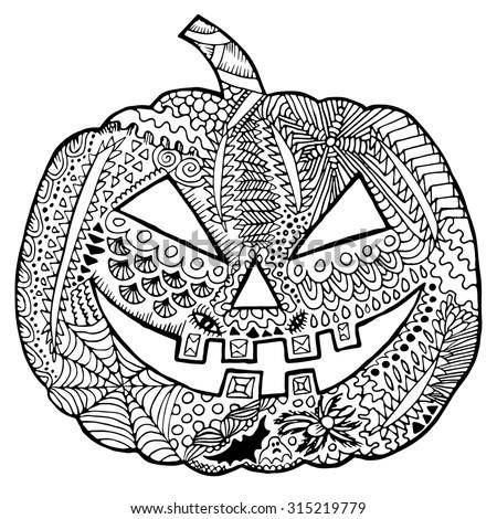 Stock vector zentangle pumpkin halloween zentangle illustration autumn vector image can be used