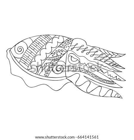 Cuttlefish stock images royalty free images vectors for Cuttlefish coloring pages