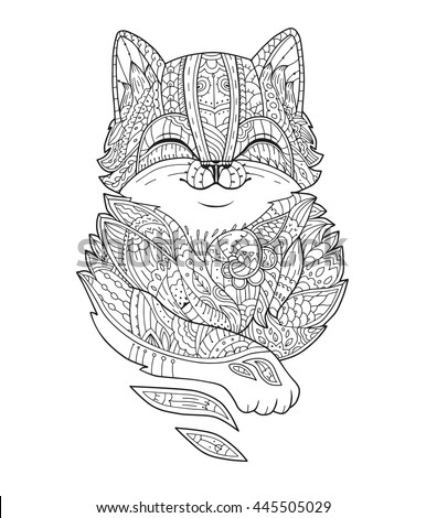 Cat Coloring Pages Cute Kitten In A Mug