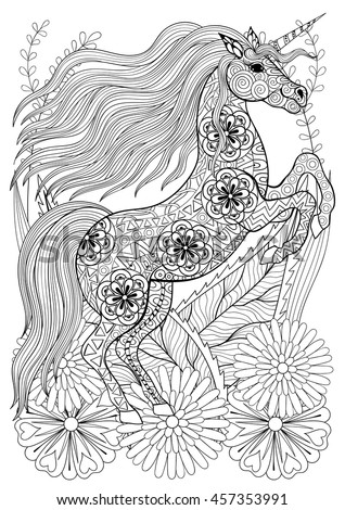 Horse Head Coloring Page Stock Photos Royalty Free Images