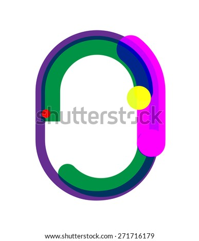 Zero Number Symbol. Vector Illustration