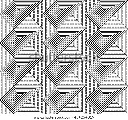 Zig zag diagonal patterns. Striped monochrome textures.can be used for wallpaper, cover fills, web page background, surface textures. - stock vector