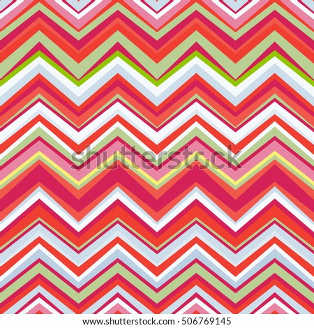 Zig zag pattern trendy color seamless.