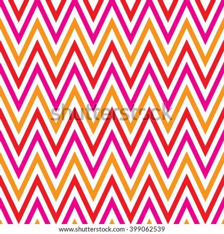 Zigzag big pink orange and red