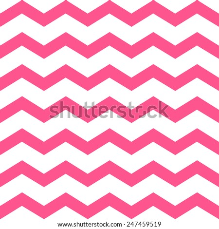 Zigzag chevron grunge pink pattern background - stock vector