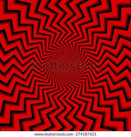 Zigzag lines abstract background - stock vector