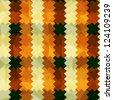 zigzag lines orange seamless pattern - stock vector