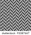 Zigzag pattern in black and white - stock photo