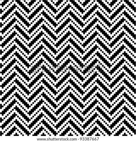 Zigzag pattern in black and white - stock vector