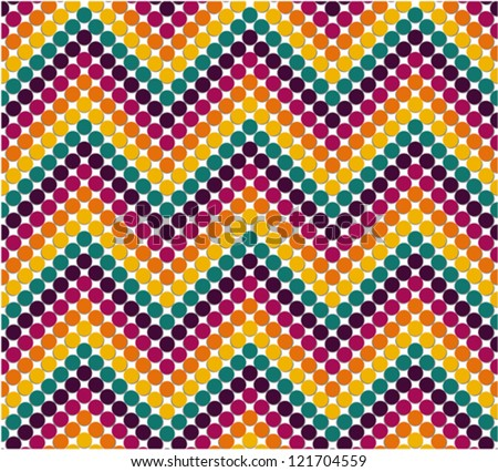 Zigzag pattern in cute color - stock vector
