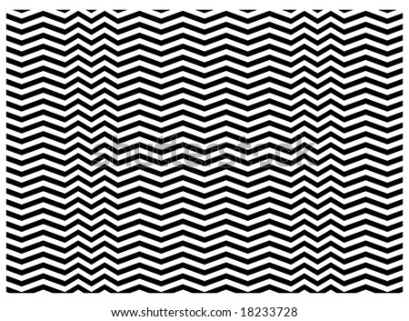 zigzag texture in vector, black and white - stock vector