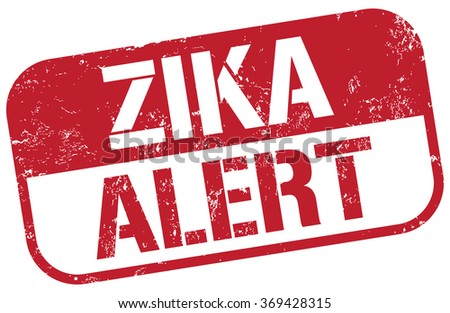 zika alert stamp - stock vector