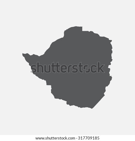 Zimbabwe country border map