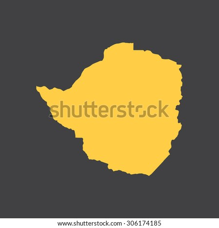 Zimbabwe country border,map. Vector EPS8