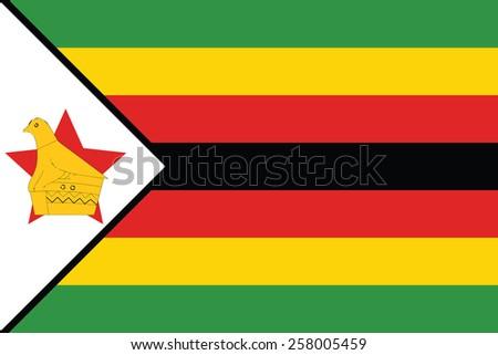 Zimbabwe flag  - stock vector