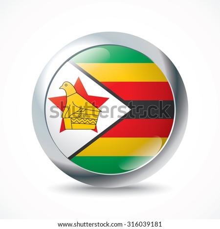 Zimbabwe bird stock images royalty free images vectors zimbabwe flag button vector illustration sciox Choice Image