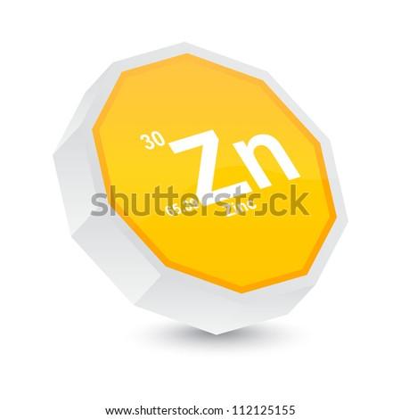 zinc button - stock vector