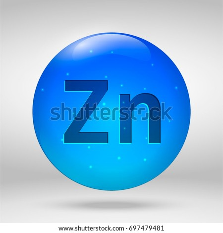 Zinc element periodic table vector 3 d stock vector royalty free zinc element of the periodic table vector 3d glossy drop pill capsule icon urtaz Images