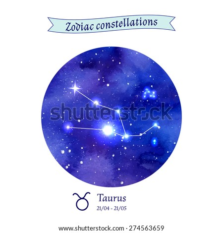 Zodiac constellation. Taurus. The Bull. Vector illustration - stock vector