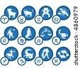 Zodiac Icon Set - stock vector