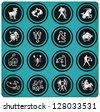 zodiac icons. - stock vector