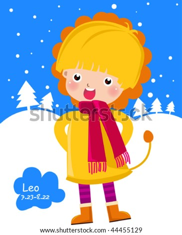 Zodiac- illustration of a girl- leo