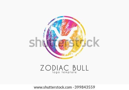 Zodiac lion logo. Lion symbol. Zodiac logo - stock vector