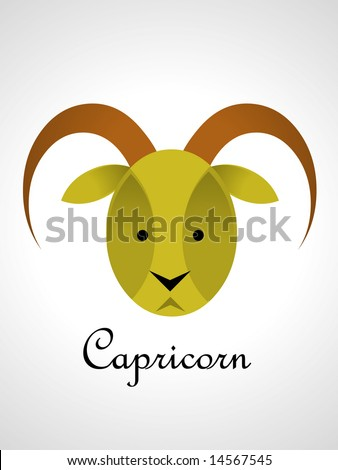 Zodiac Sign  - capricorn - stock vector
