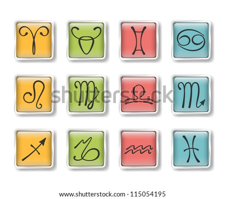 Zodiacal icons - stock vector