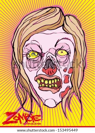 zombie - stock vector