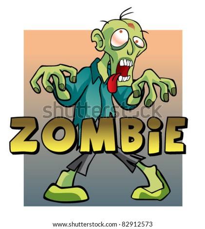 zombie character - stock vector