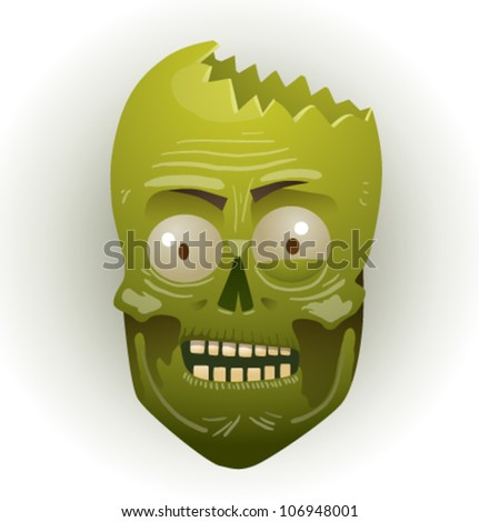 zombie face 04 - stock vector