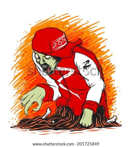 Zombie Guts Vector - stock vector