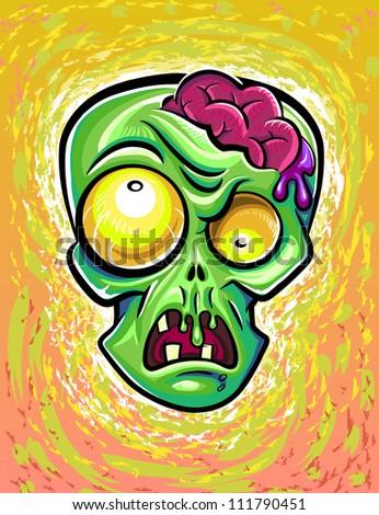 Zombie poster - stock vector