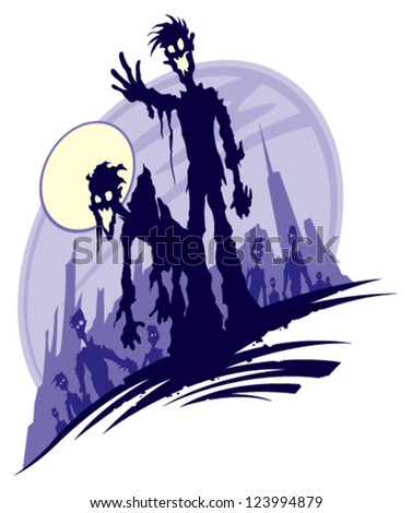 Zombies - stock vector