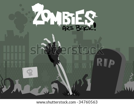 Zombies are back! - stock vector