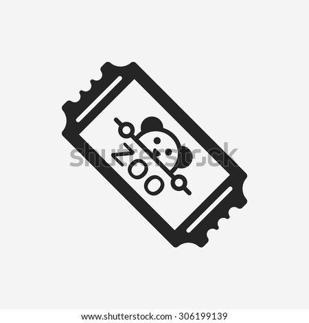 zoo ticket icon - stock vector