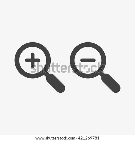 Zoom Icon in trendy flat style isolated on grey background. Enlarge and decrease symbols for your web site design, logo, app, UI. Vector illustration, EPS10. - stock vector