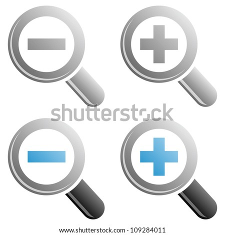 Zoom icons - stock vector